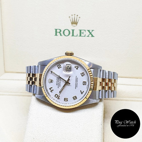 Rolex Oyster Perpetual Ivory Jubilee Arabic Datejust REF: 16233 (S Series)