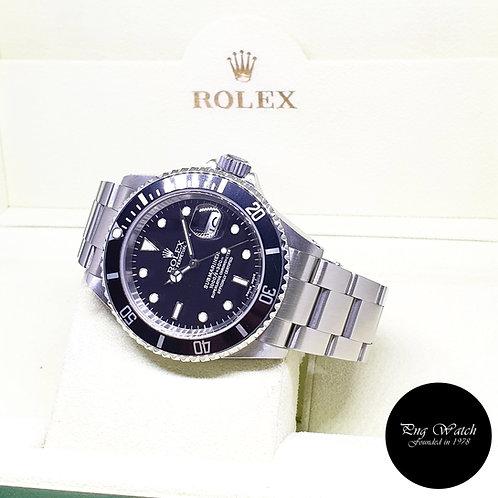 Rolex Oyster Perpetual Steel Black Submariner Date REF: 16610 (K Series)