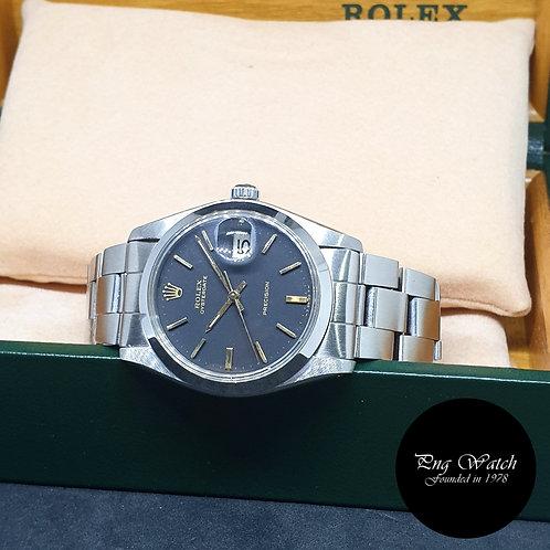 Rolex 34mm Matte Black Oysterdate Precision REF: 6694 (Full Set)