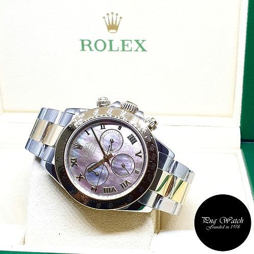 Rolex Oyster Perpetual 18K Half Gold Black MOP Daytona REF: 116523