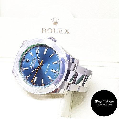 Rolex Oyster Perpetual Blue Milgauss REF: 116400GV (2016)