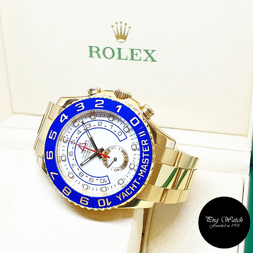 Rolex Oyster Perpetual 18K Full Yellow Gold Yachtmaster II REF: 116688 (2010)
