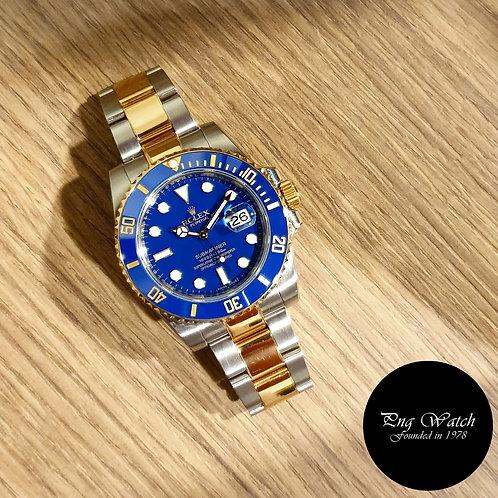 Rolex OP 18K Half Gold Ceramic Matte Blue Submariner REF: 116613LB (2)