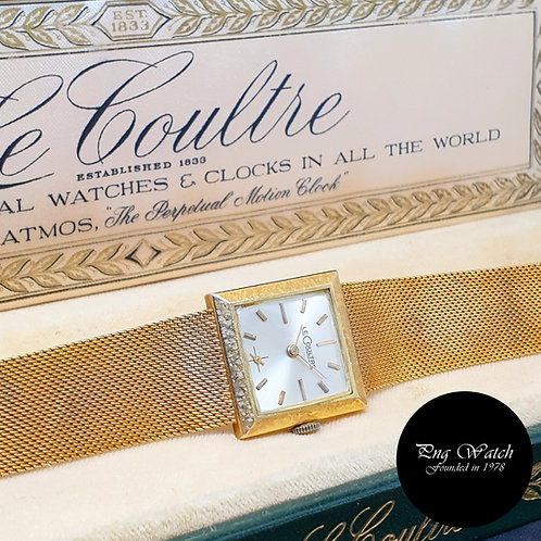 Lecoultre 23mm Ladies 14K Gold Watch REF: 618-907