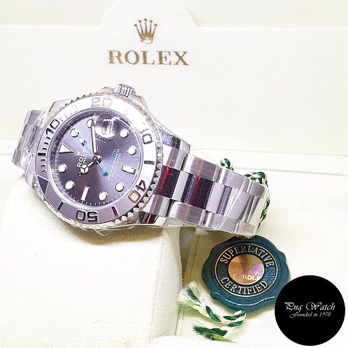 Rolex Oyster Perpetual 37mm Rhodium Yachtmaster REF: 268622