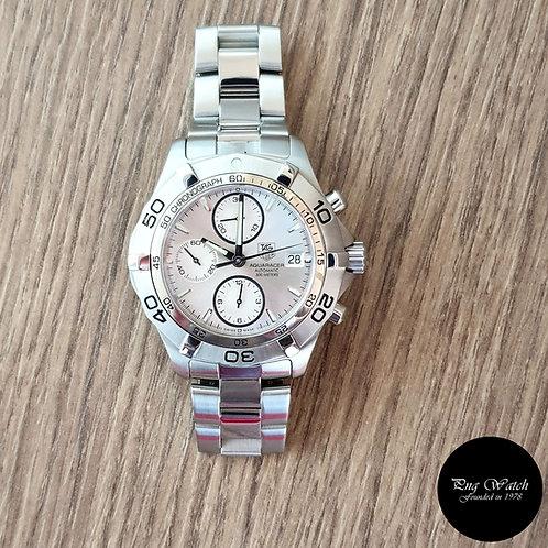 Tag Heuer Silver Aquaracer Chronograph Sports Watch (2)