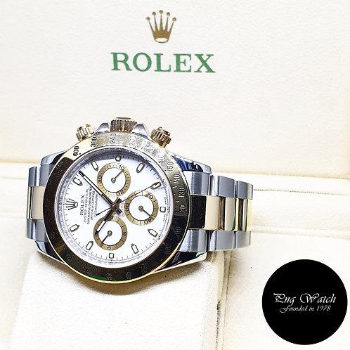 Rolex OP 18K Half Gold White Indexes Daytona REF: 116523 (Z series)