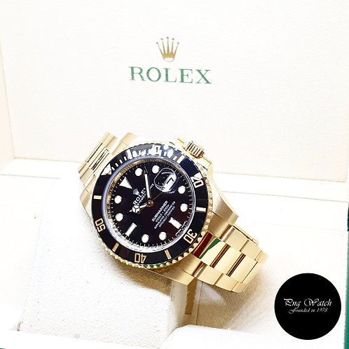 Rolex Oyster Perpetual 18K Full Yellow Gold Black Submariner Date REF: 116618LN