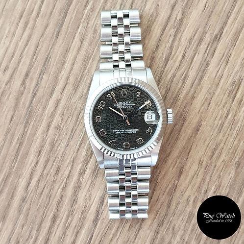 Rolex 31mm Grey Jubilee Arabic Datejust REF: 68274 (2)