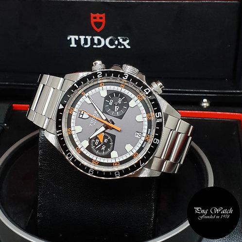 """Tudor Grey Heritage Chronograph """"Monte Carlo"""" REF: 70330N (2010)"""