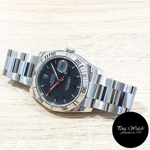 """Rolex Oyster Perpetual Black """"Turn-O-Graph"""" Datejust REF: 116264 (Z Series)(2)"""