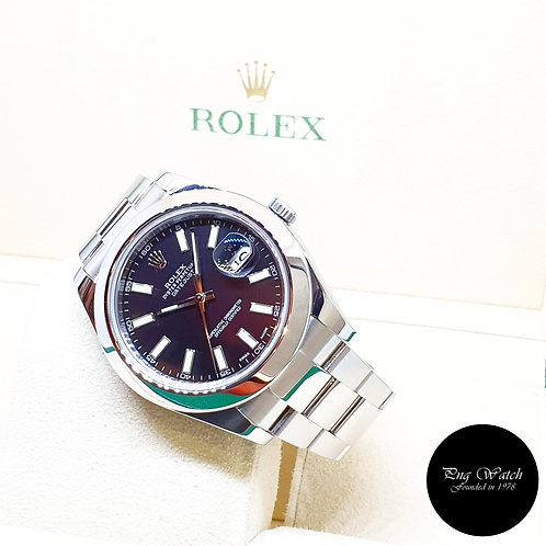 Rolex Oyster Perpetual 41mm Black Indexes Datejust REF: 116300 (2012)