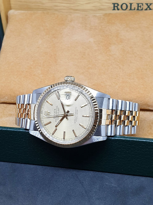 Rolex Oyster Perpetual Champagne Tapestry Datejust REF: 16013