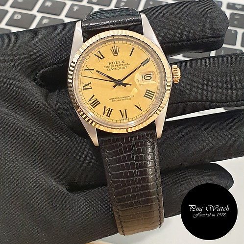 Rolex Oyster Perpetual 14K Half Gold Champagne Buckley Datejust REF: 16013 (2)