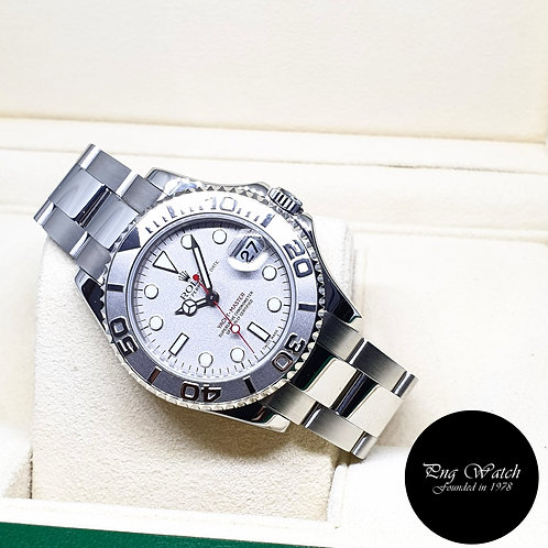 Rolex Oyster Perpetual 35mm Platinium Yachtmaster REF: 168622