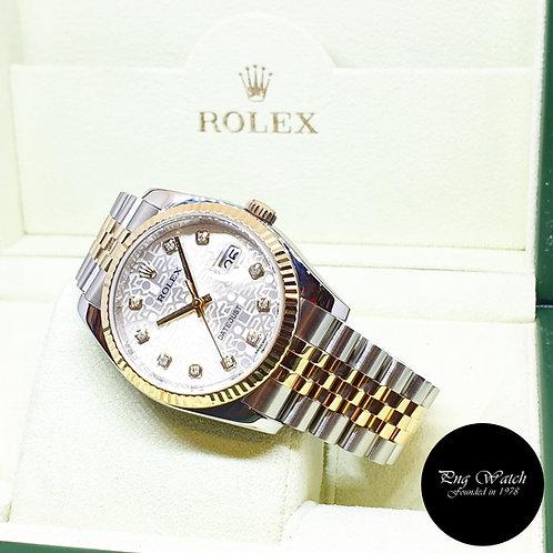Rolex OP 18K Half Gold Silver Computer Diamonds Datejust REF: 116233 (G)