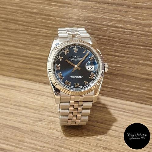 Rolex Oyster Perpetual Blue Roman Datejust REF: 116234 (2)