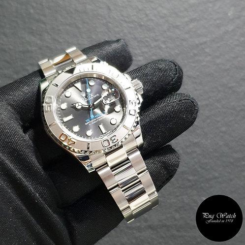 Rolex Oyster Perpetual Rhodium 40mm Platinum Bezel Yachtmaster REF: 116622 (2)