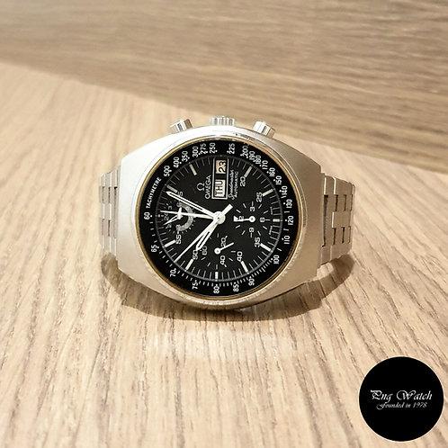 Vintage Omega Black Day-Date Speedmaster Chronograph (2)