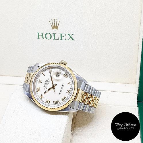 "Rolex Oyster Perpetual ""PANNA"" Cream Roman Datejust REF: 16233 (W Series)"