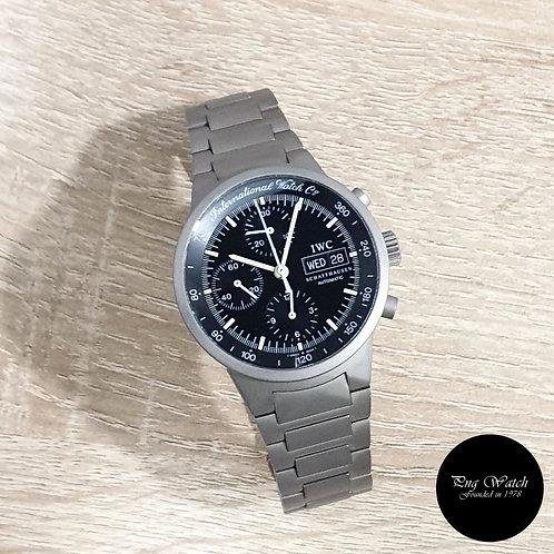 IWC Black Tritium Titanium Flieger GST Chronograph Watch REF: 3707 (2)