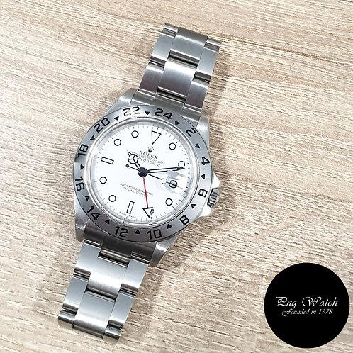 "Rolex Oyster Perpetual White ""POLAR"" Explorer 2 REF: 16570(2)"