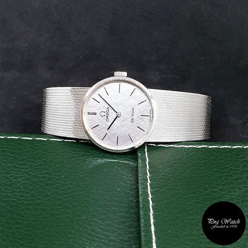 Vintage Omega 18K White Gold Silver De Ville REF: 7279