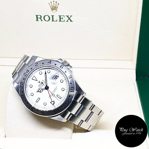 Rolex Oyster Perpetual White Explorer 2 REF: 16570 (F Series)