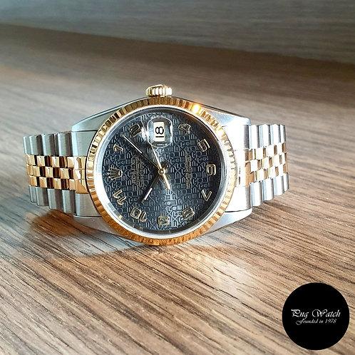 Rolex 18K Half Gold Grey Jubilee Datejust REF: 16233 (2)