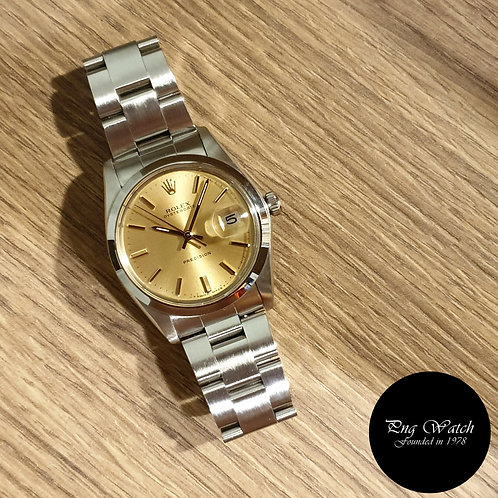 Rolex Champagne Gold Indexes Oysterdate Precision REF: 6694 (2)