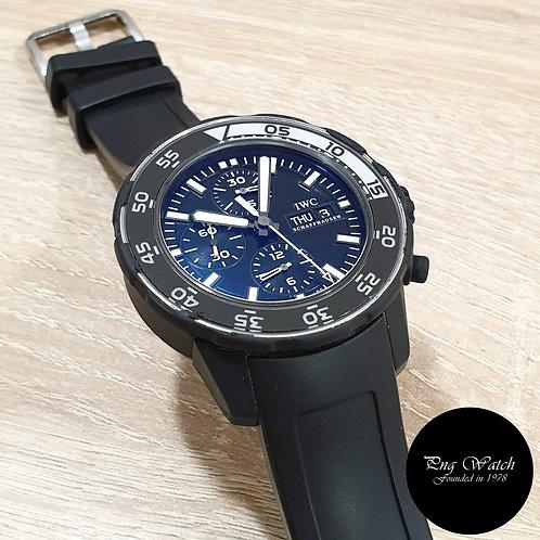 IWC Black Rubber Aquatimer Chronograph Galapagos REF: 376705 (2)