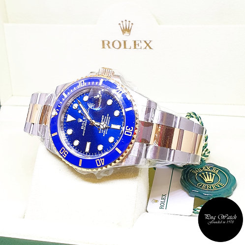 Rolex Oyster Perpetual 41mm 18K Half Gold Blue Submariner Date REF: 126613LB