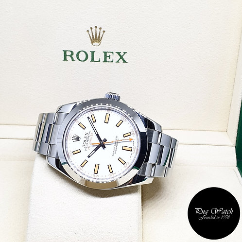 Rolex Oyster Perpetual White Milgauss REF: 116400 (V Series)