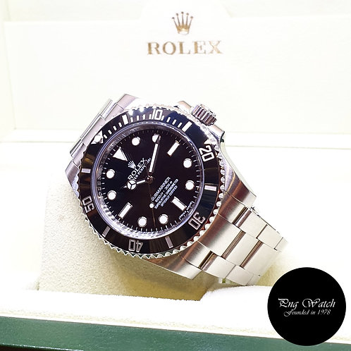 Rolex Oyster Perpetual No Date Ceramic Black Submariner REF: 114060 (AN Series)
