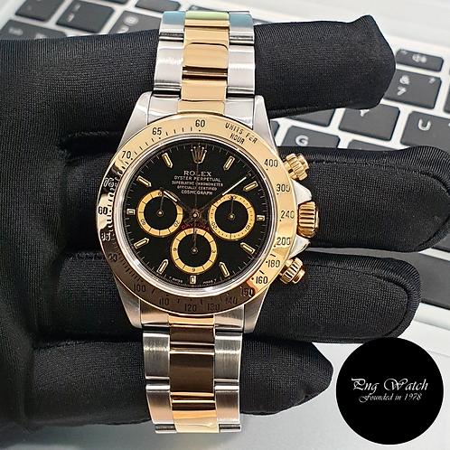 "Rolex 40mm 18K Half Gold ""Inverted 6"" Zenith Mvt Black Indexes Daytona (2)"