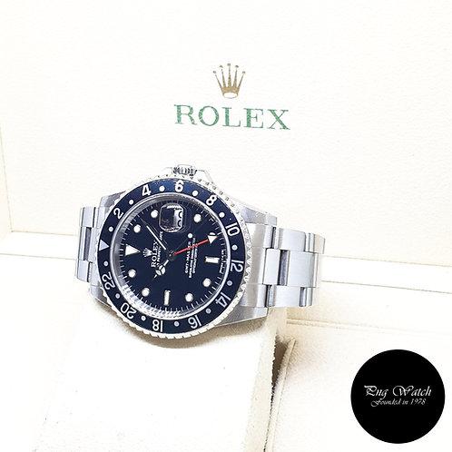 "Rolex Oyster Perpetual ""TRINOVA"" Black GMT Master REF: 16700 (U Series)"