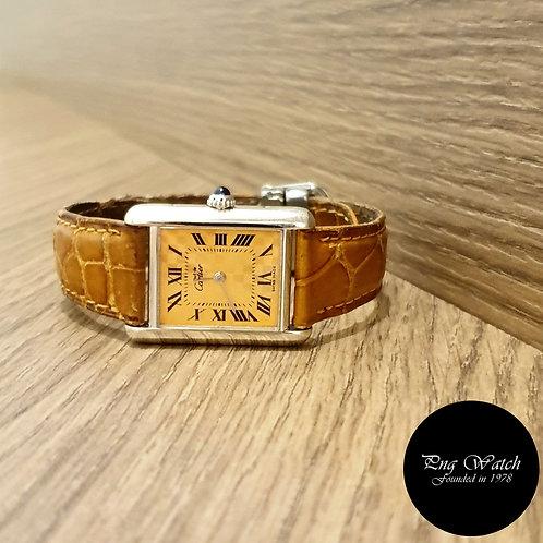 Cartier Orange Checkerboard Tank Ladies Watch REF: 2416 (2)