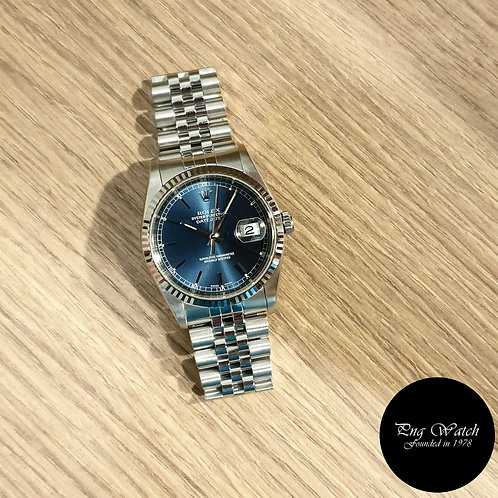 Rolex Oyster Perpetual Blue Index Datejust REF: 16234 (2)