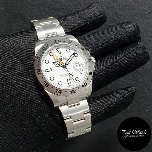 Rolex 42mm Stainless Steel White Explorer 2 REF: 216570 (21)(2)