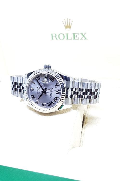Rolex Silver Roman Datejust REF: 178274