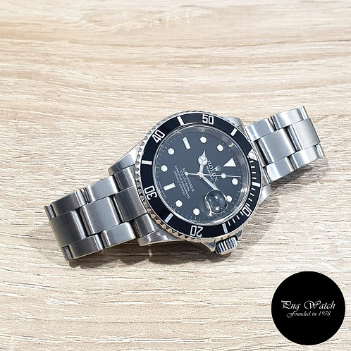 Rolex Oyster Perpetual Black Submariner Date REF: 16610 (Rehaut Ring)(2)