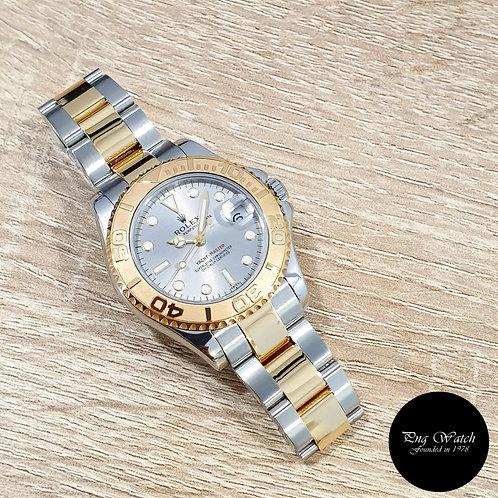 "Rolex OP 18K Half Gold 35mm Grey ""Swiss"" Yachtmaster REF: 68623 (2)"