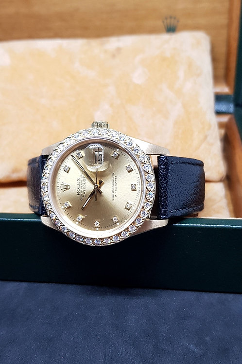 Rolex Oyster Perpetual 18K Solid Yellow Gold Datejust REF: 16018