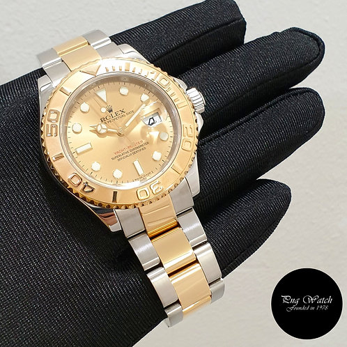 Rolex 18K Half Gold Champagne 40mm Yachtmaster REF: 16623 (G)(2)