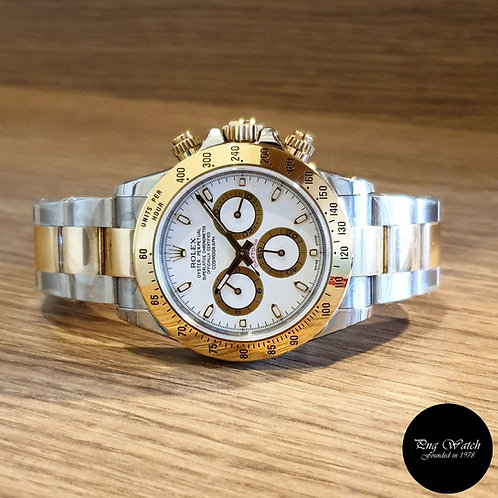 Rolex 18K Half Gold White Index Cosmograph Daytona REF: 116523 (2)