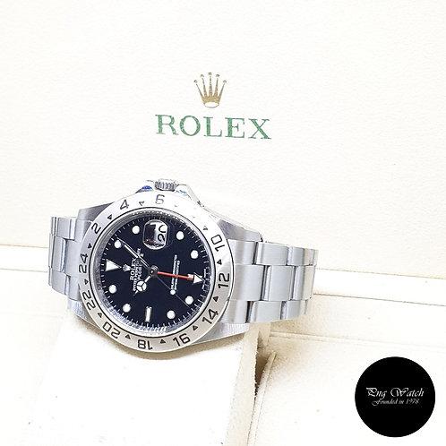 "Rolex Oyster Perpetual 40mm ""3186"" Black Explorer 2 REF: 16570 (2012)"
