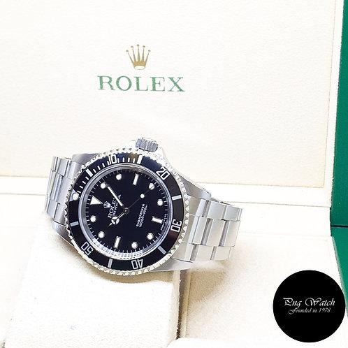 Rolex Oyster Perpetual Tritium No Date Black Submariner REF: 14060 (W Series)