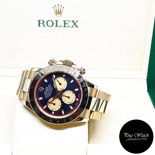 """Rolex OP 18K Yellow Gold Black """"Paul Newman"""" Cosmograph Daytona REF: 116528 (D)"""