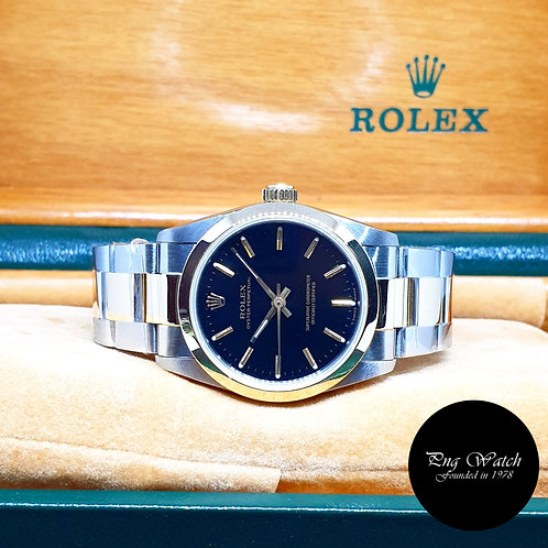 Rolex 31mm 18K Half Gold Black Indexes Oyster Perpetual REF: 67483
