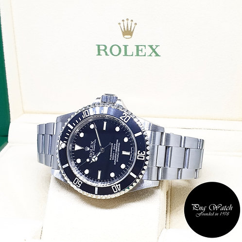 Rolex Oyster Perpetual 4Liner Steel No Date Submariner REF: 14060M